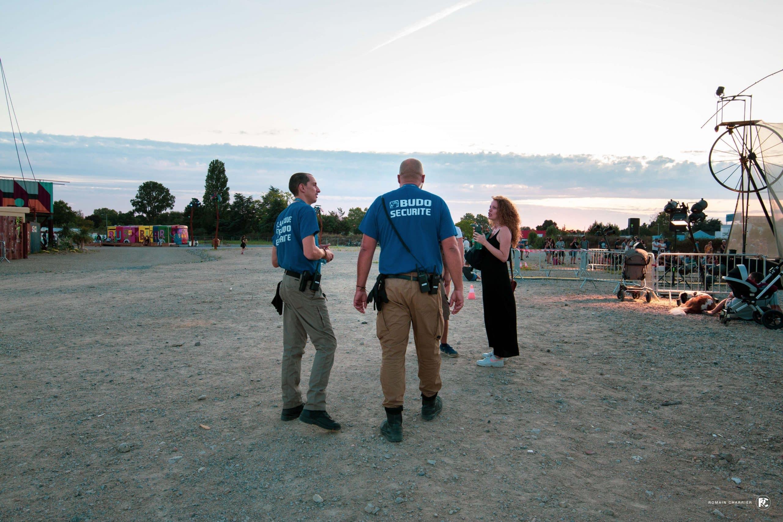 Agents de Budo Sécurité au festival transfert à Nantes.