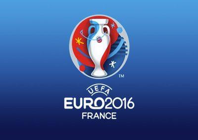 Logo officiel de l'euro football de 2016.