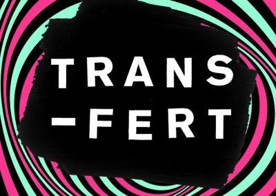 Logo du festival transfert. Client de l'agence de sécurité Budo Securite Nantes