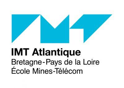 Logo de l'école IMT Atlantique. Client de Budo Sécurité.